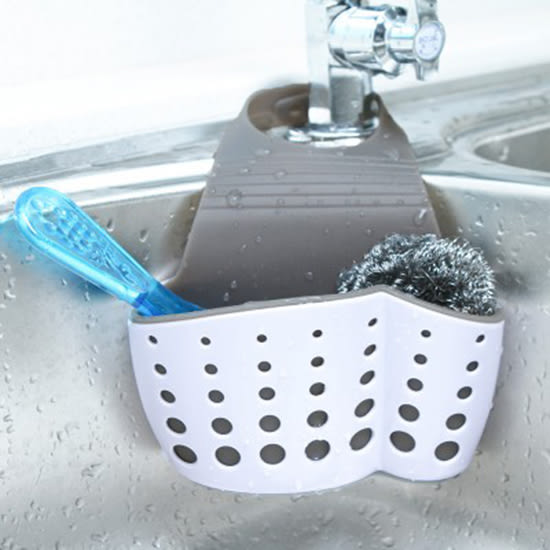 ♚MY COLOR♚雙層式水槽瀝水籃 瀝水袋 廚房 水槽 置物架 海綿 水池 收納 用品 掛籃【N363】