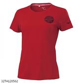 MIZUNO 女裝 短袖 T恤 休閒 吸汗速乾 抗紫外線 紅【運動世界】32TA120562