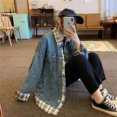 牛仔外套女裝2020新款韓版寬鬆春秋裝bf風假兩件棒球服上衣ins潮