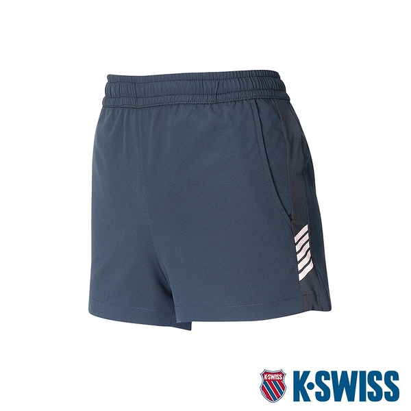 【超取】K-SWISS Slope KS Logo Shorts運動短褲-女-黑