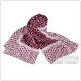 Calvin Klein 雙色LOGO印花造型披巾(紅)