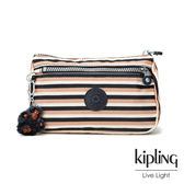 Kipling簡約條紋密橙零錢包(小)