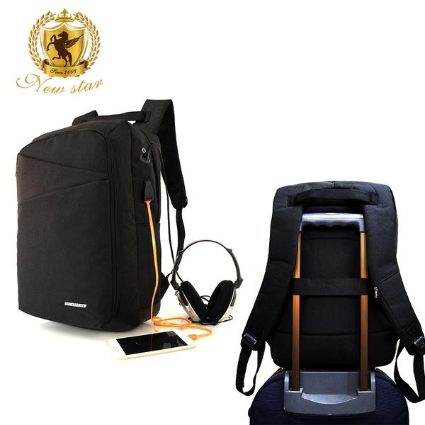 後背包 防水雙層充電多功能筆電包包 電腦包 大容量 可掛行李箱 男 女 男包 現貨 NEW STAR BK263