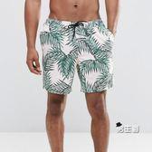 海灘褲男士四分內襯款海灘褲 大尺碼速干海邊漂流游泳褲男 溫泉褲(免運)