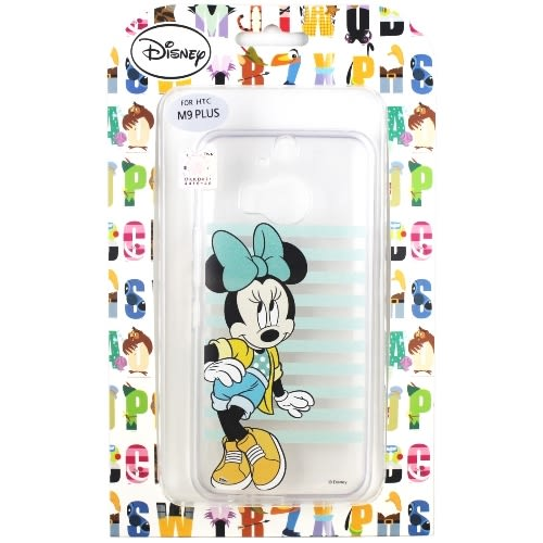 【Disney】HTC One M9+ /M9 Plus 橫條系列 彩繪透明保護軟套