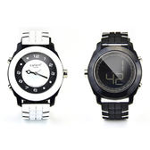 colore TWINS時尚麗彩數位指針錶M05白配黑