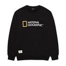 National Geographic 男女PAULHASS BIG LOGO MTM 圓領套頭衫 炭黑 N203USW020198【GO WILD】