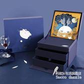 原創創意卡通雙層立體盒 中秋節日月餅食品包裝禮盒 BS19781『科炫3C』