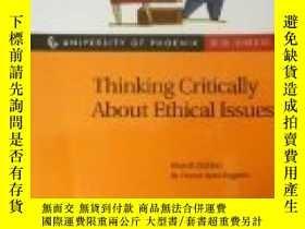 二手書博民逛書店Thinking罕見Critically About Ethical Issues-批判地思考倫理問題Y436