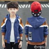 中大童男童春秋外套新款秋裝兒童裝10歲男孩洋氣夾克潮上衣15 免運快出