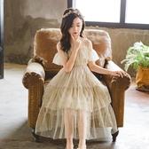 超洋氣女童洋裝2020新款夏裝蓬蓬紗裙子短袖中大兒童禮服公主裙 滿天星