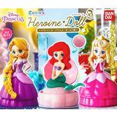 全套3款【日本正版】迪士尼公主 造型轉蛋 P2 扭蛋 轉蛋 第2彈 小美人魚 長髮公主 BANDAI 萬代 - 233411