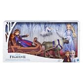 孩之寶 迪士尼動畫電影 冰雪奇緣2 艾莎與安娜與小斯馴鹿雪橇組 TOYeGO 玩具e哥