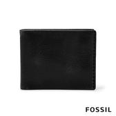FOSSIL BECK 側縫線裝飾基本款實用皮夾-黑色 ML4134001