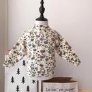 1-5歲女童韓版碎花套頭毛衣中小童春秋百搭針織衫女孩打底衫上衣【小獅子】