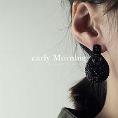 ✡歐美版✡ early Morning - 暗黑滿鑽耳環 歐美個性 尾牙喜宴【GC112】
