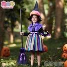 萬聖節兒童服裝 萬聖節兒童服裝幼兒園女童cosplay巫婆裙兒童化裝舞會狂歡演出服『Sweet家居』