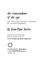 二手書 《The Transcendence of the Ego: An Existentialist Theory of Consciousness》 R2Y ISBN:0374970327