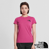 【THE NORTH FACE 美國】女 快乾圓領短袖 T恤『桃紅』NF0A4N9J 戶外 登山 時尚 休閒