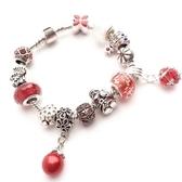 串珠手鍊-琉璃水晶飾品熱情紅色生日情人節禮物女配件73bo31【時尚巴黎】