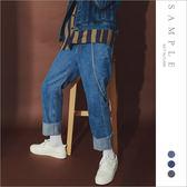 現貨 韓國製 牛仔褲 微寬反折【JL19235】- SAMPLE