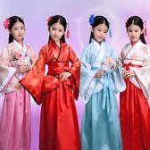 兒童古裝女漢服唐裝秦朝春秋戰國三國貴妃服漢朝格格古代演出服裝