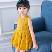 618好康又一發女童連衣裙夏季2018新款正韓時尚寶寶夏裝小女孩兒童蕾絲公主裙子