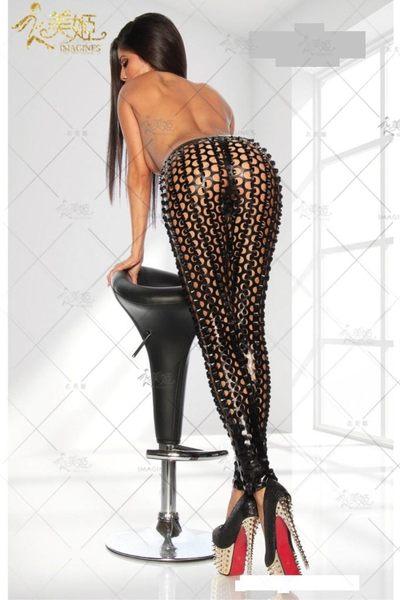 衣美姬♥歐美閃亮亮 低腰長褲 夜店酒吧俱樂部派對 熱舞褲