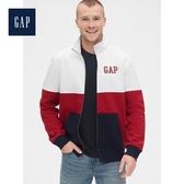 Gap男裝活力撞色拉鍊半高領外套527997-紅色