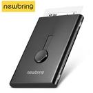 金屬卡夾 NewBring自動金屬名片盒簡約卡片套超薄高檔商務卡夾防盜刷卡包男 傑森型男館