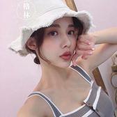 帽子女毛邊漁夫帽夏季日系文藝遮陽帽 【格林世家】