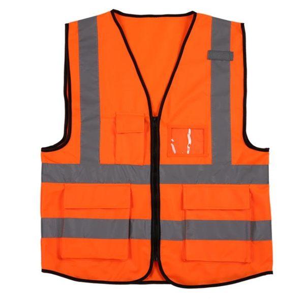 桃園百貨 反光背心多口袋安全警示網銳佳反光衣