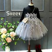 兒童洋裝正韓童裝2018春裝新款女童針織毛衣裙針織紗裙公主裙洋裝禮物限時八九折