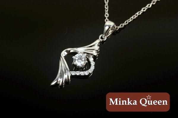 Minka Queen 品牌 八心八箭水鑽精緻白K百搭項鍊