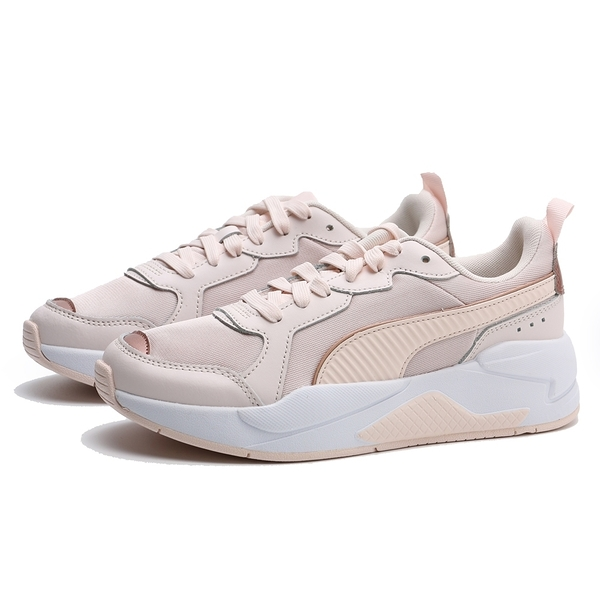 PUMA 休閒鞋 X-RAY METALLIC WNS 白底 粉皮革布 玫瑰金邊 女 (布魯克林) 37307203
