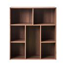 書櫃 收納櫃 置物櫃【收納屋】創意多功能櫃-胡桃木色& DIY組合傢俱