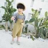 男童背帶褲夏季新款韓版純棉兒童七分褲韓代同款夏裝寬鬆褲子艾美時尚衣櫥