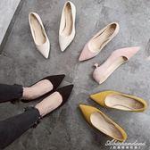 貓跟鞋高跟鞋女 韓版尖頭淺口細跟3厘米低跟學生單鞋  黛尼時尚精品