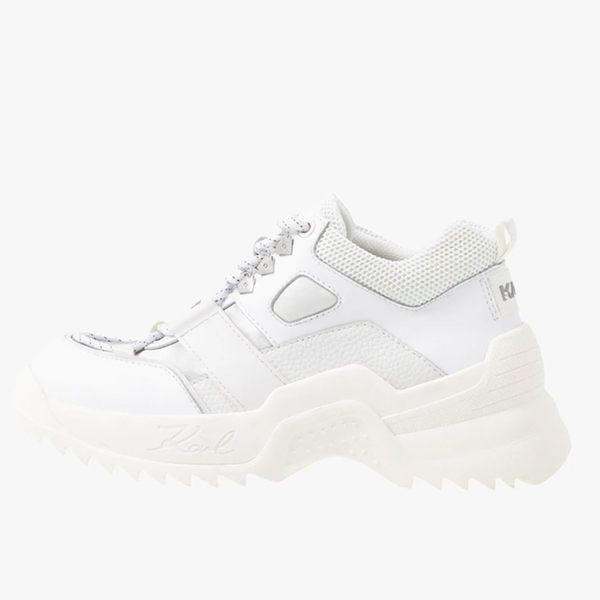 Karl Lagerfeld 卡爾 老佛爺 女鞋 QUEST登山老爹鞋-白