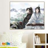 古風diy數字油畫卡通手繪填色油彩畫裝飾畫人物油畫【聚寶屋】