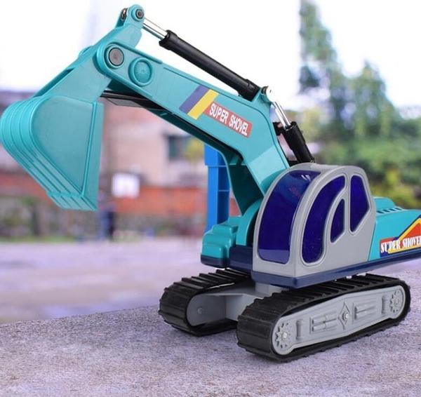 挖掘機玩具 耐摔挖土機工程車兒童挖掘機玩具車仿真大號挖機鉤機男孩TW【快速出貨八折下殺】