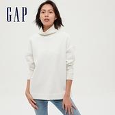 Gap女裝 碳素軟磨系列 純色高領長袖 591859-灰白色