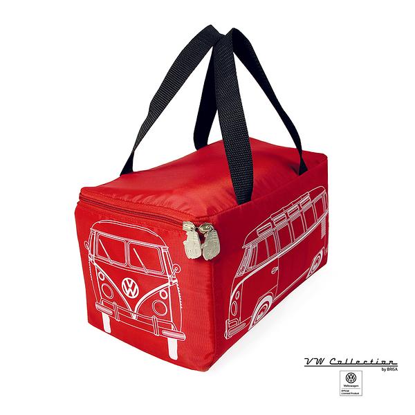 VW Brisa老福斯-T1 Bus 車頭造型野餐墊-森巴條紋/紅 (含收納包)