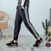三線條運動束口棉褲【F55700】OBIYUAN 韓版JOGGER休閒褲 共3色