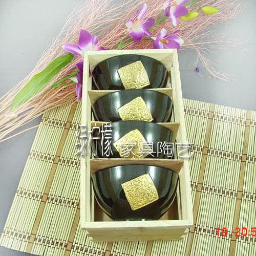 日式 和風 陶瓷 4只 餐具 套裝