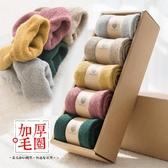 毛巾襪女秋冬季加絨加厚棉襪純棉中筒襪女士保暖襪子秋冬款毛圈襪