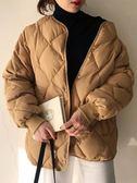秋冬2018新款韓版百搭菱形ins面包服學生加厚棉襖衣服外套女棉衣 台北日光
