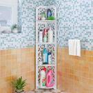 浴室置物架 衛生間置物架落地式免打孔壁掛...