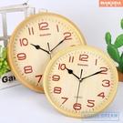 掛鐘 鐘表掛鐘客廳圓形創意時鐘掛表簡約現代家庭靜音電子石英鐘