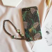 祖母綠蘋果x鏈條潮流簡約蘋果6手機殼iPhone6s78plus軟殼 iphonex